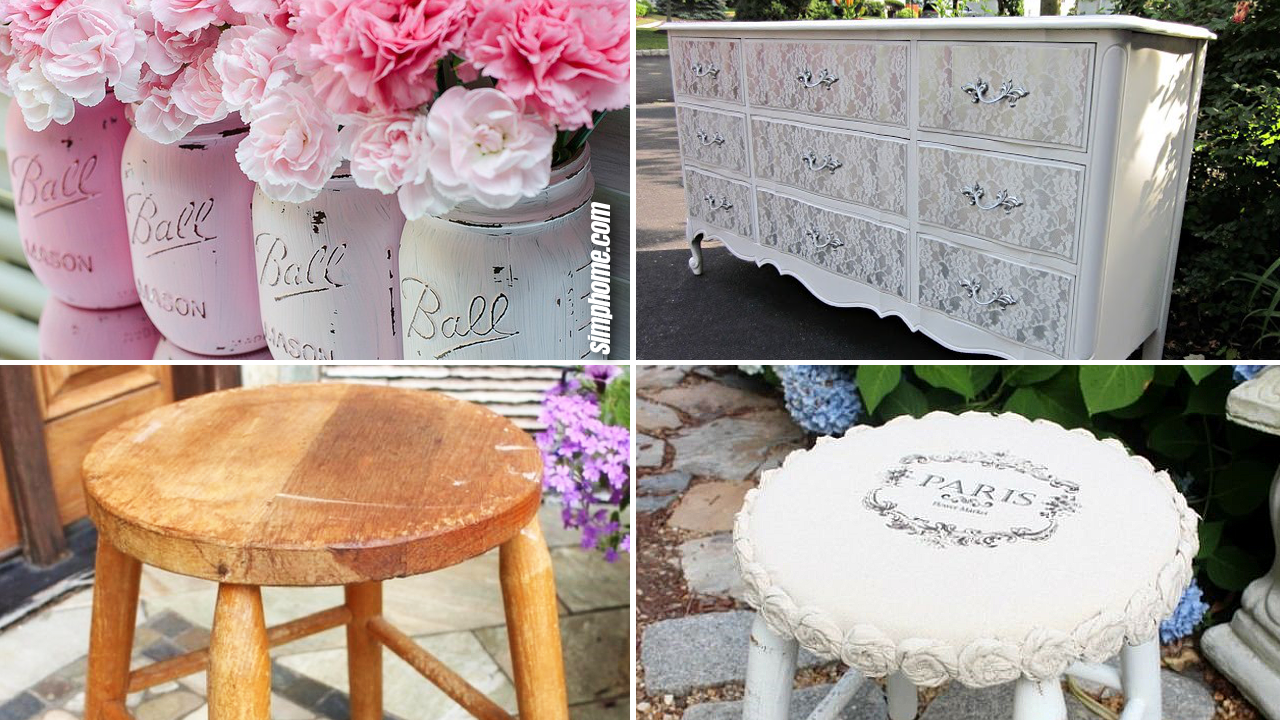 10 DIY Shabby chic décor tutorials via Simphome.com Featured Image 1